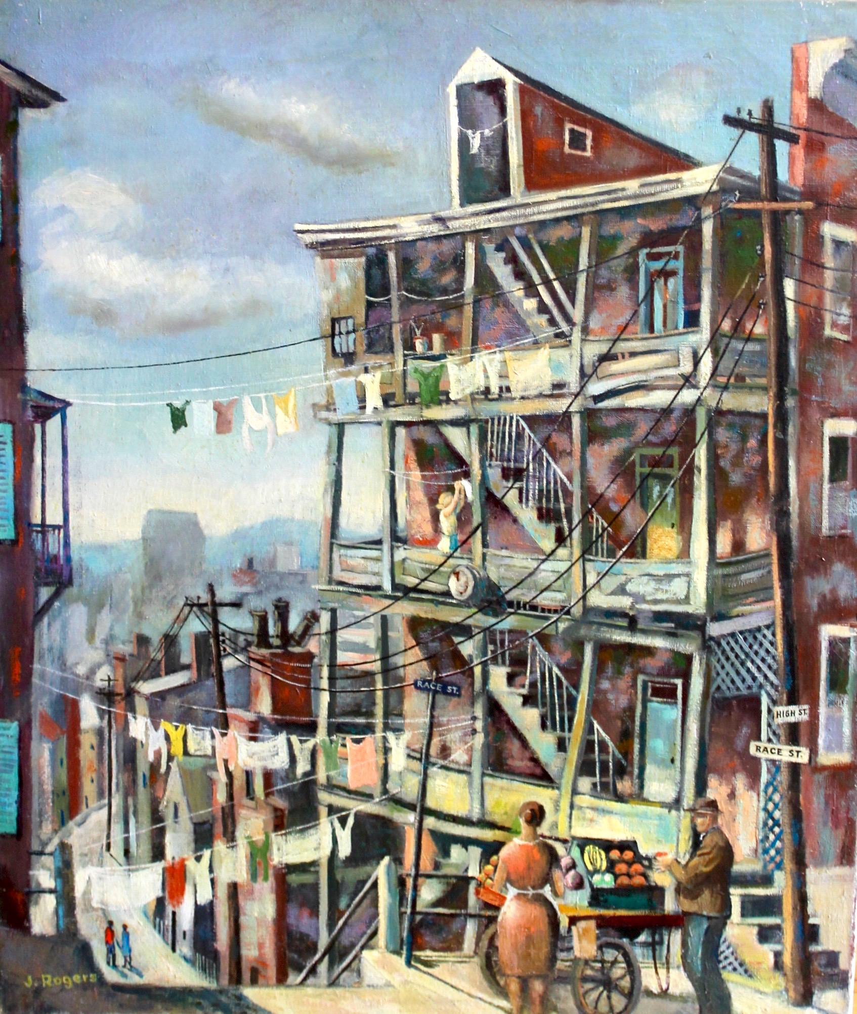 """""""Race Street"""", 24x20, oil on canvas"""