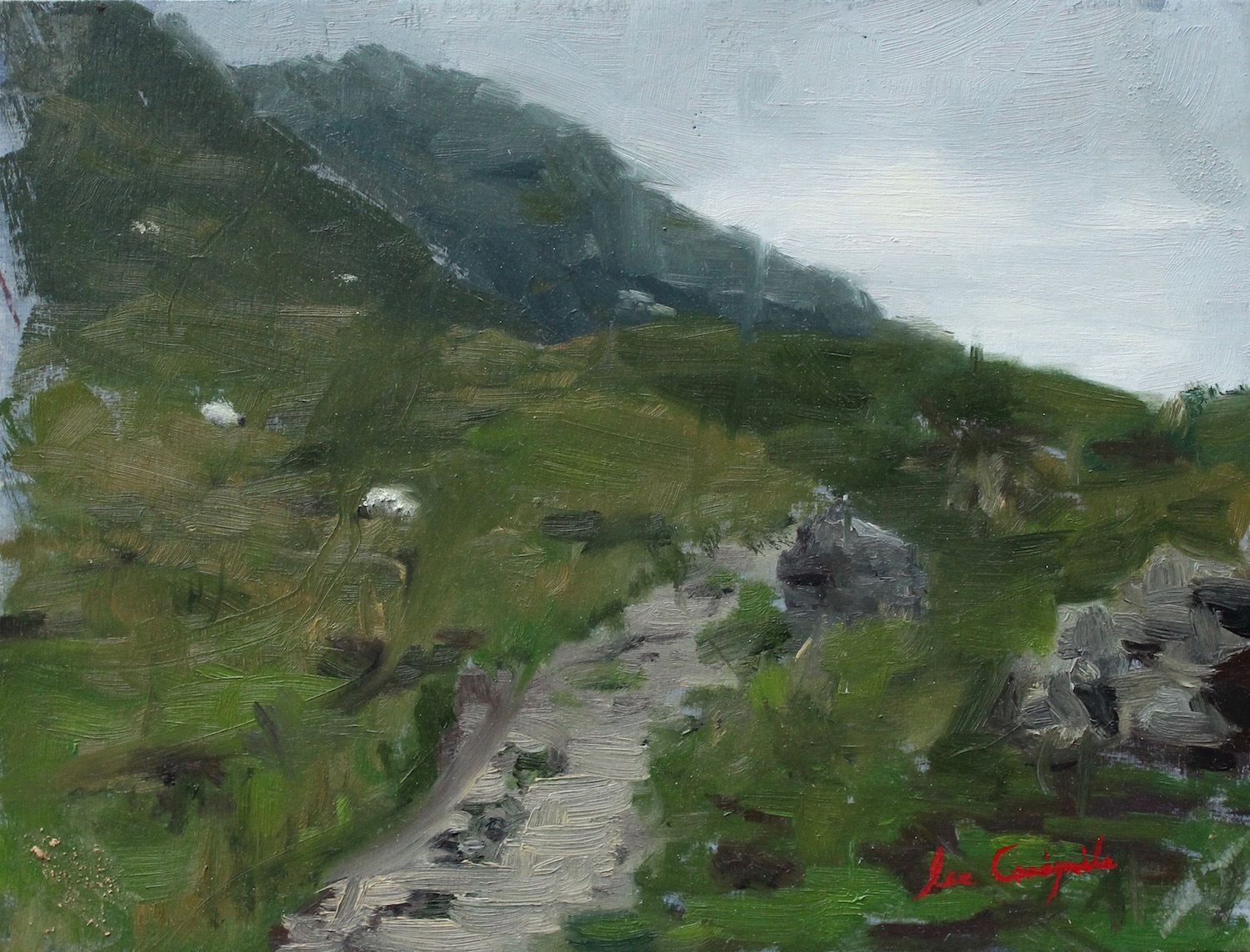"""Study for Path to Glen Nevis"", 6x8 in, Oil on panel - SOLD"