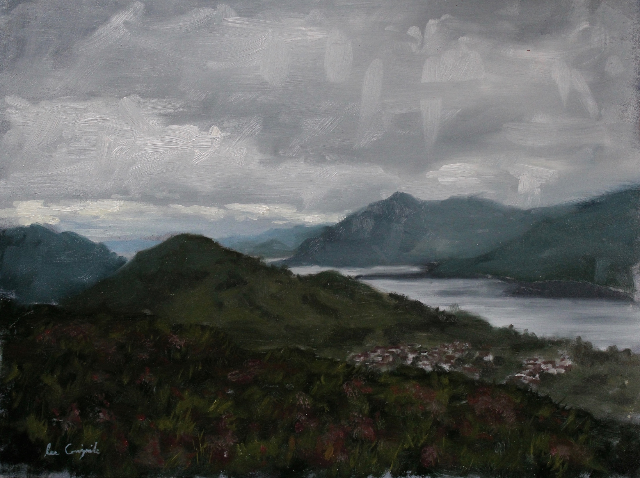"Lee Craigmile, ""View From Ben Nevis"", 12x16 in, Oil on panel"