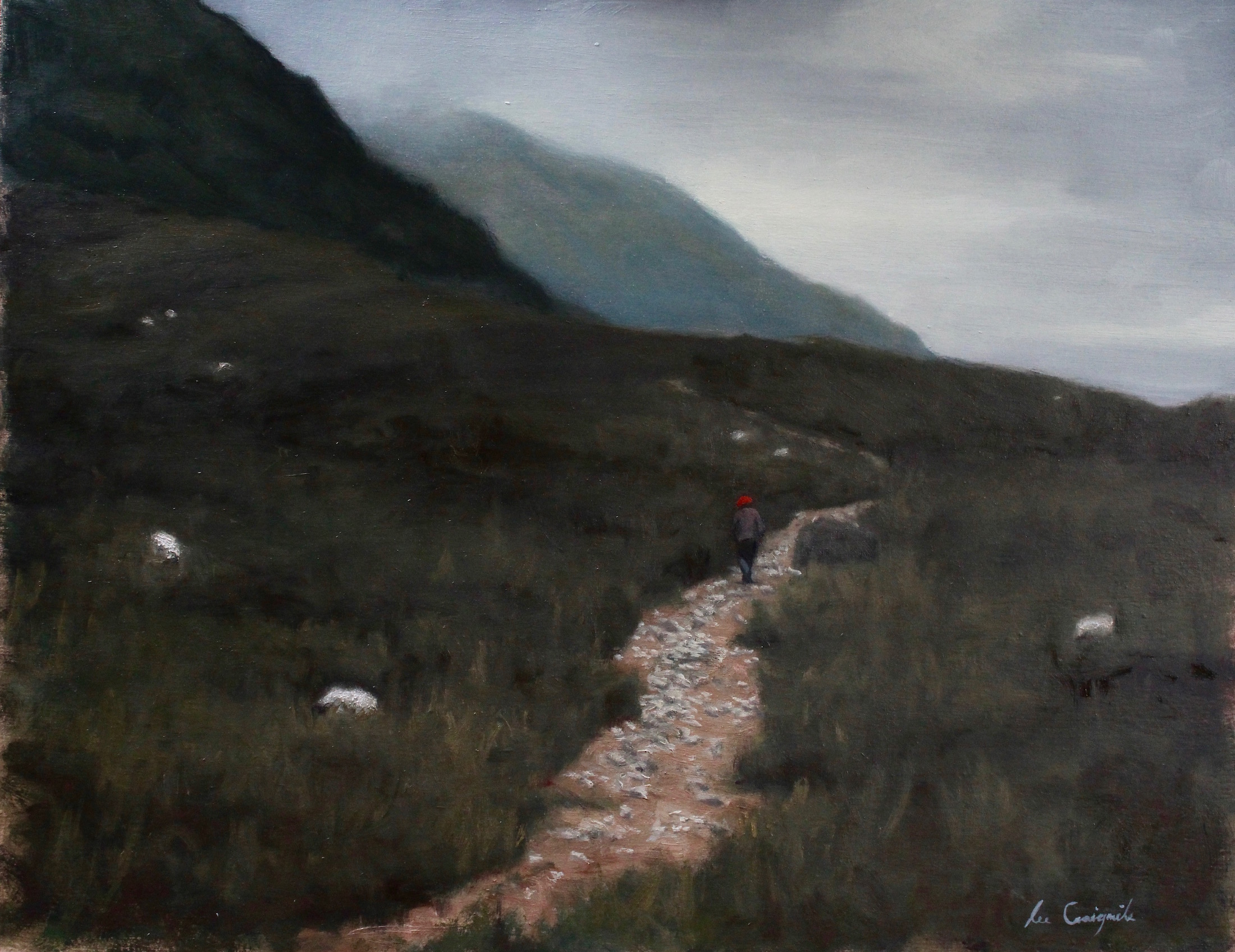 "Lee Craigmile, ""Pathway to Glen Nevis"", 14x18 in, Oil on panel"