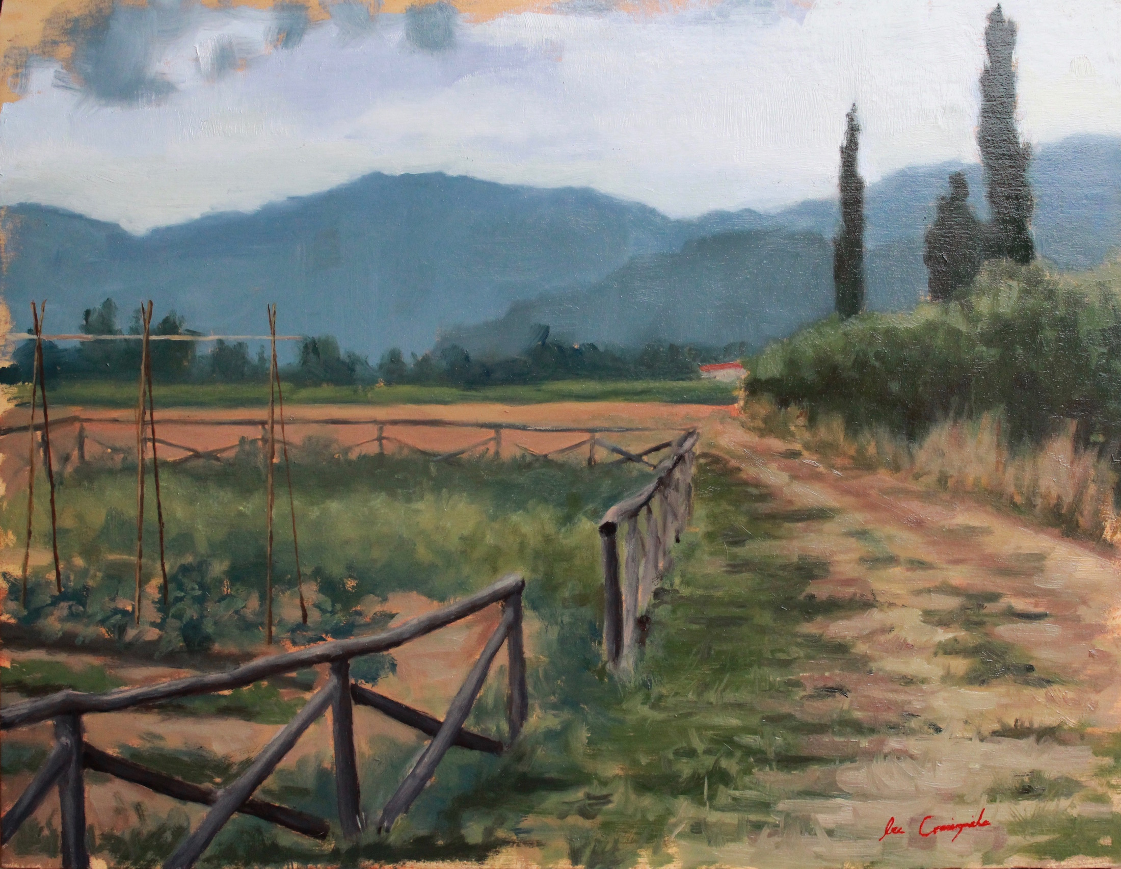 "Lee Craigmile, ""Tuscan Garden"", 14x18 in, Oil on panel"