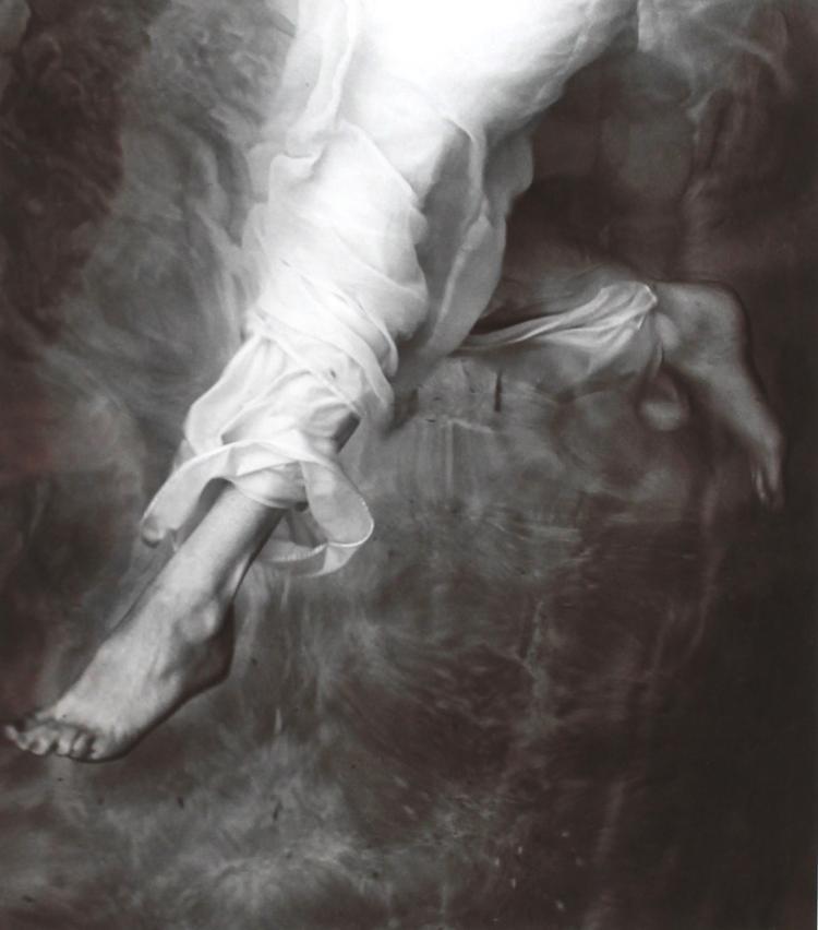 "John Wimberley, ""Decending Angel"", gelatin silver print"