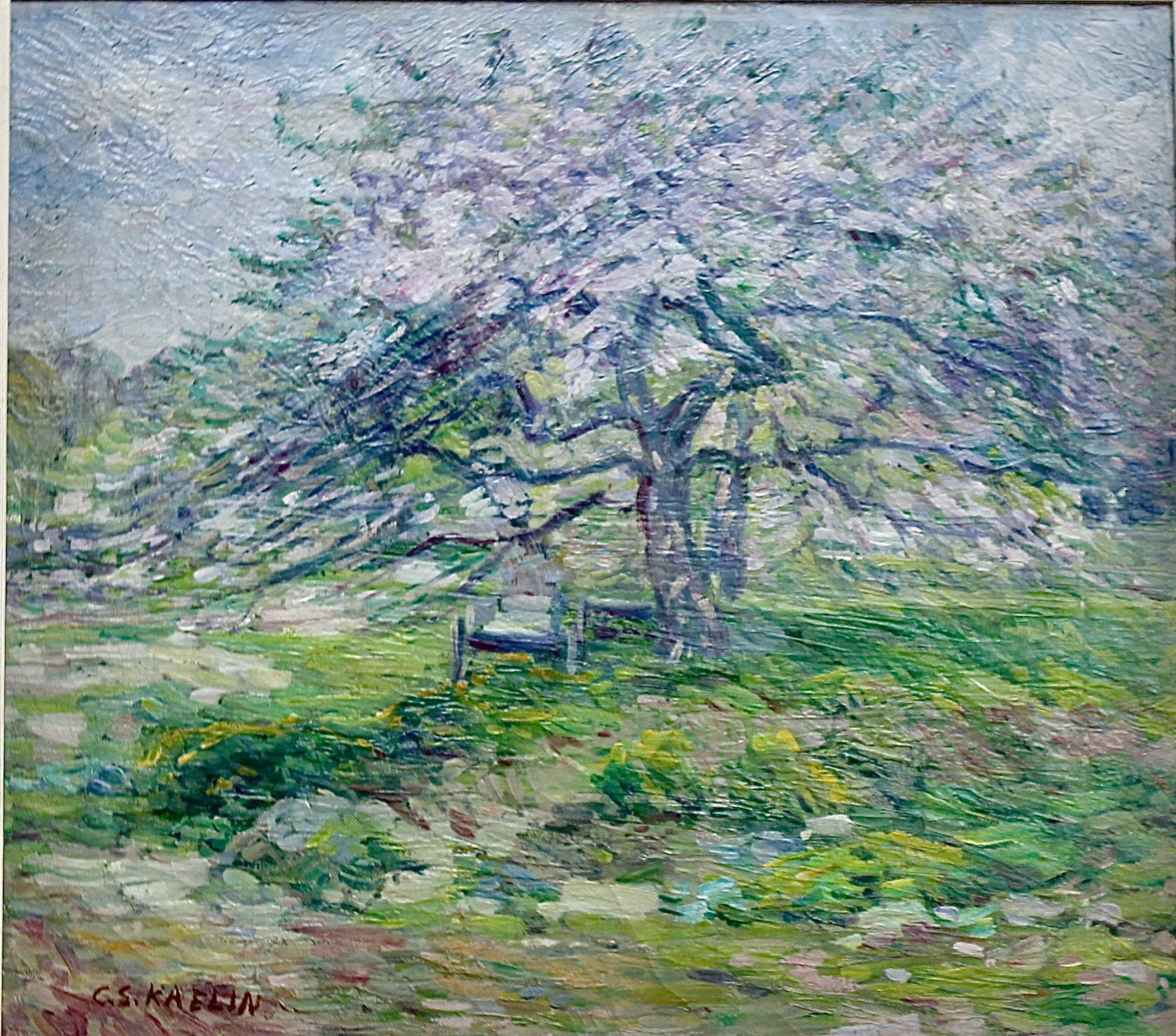 """Apple Blossoms"", 15 1/2x17 1/2"