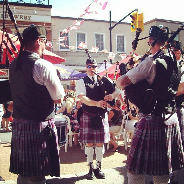 """Canada Day outside the """"Queen's Pub"""", Barrie, 2012"""