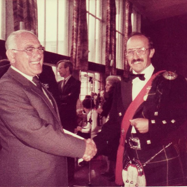 1984, PM Tom Gougeon and Lord Provost of Edinburgh, John McKay