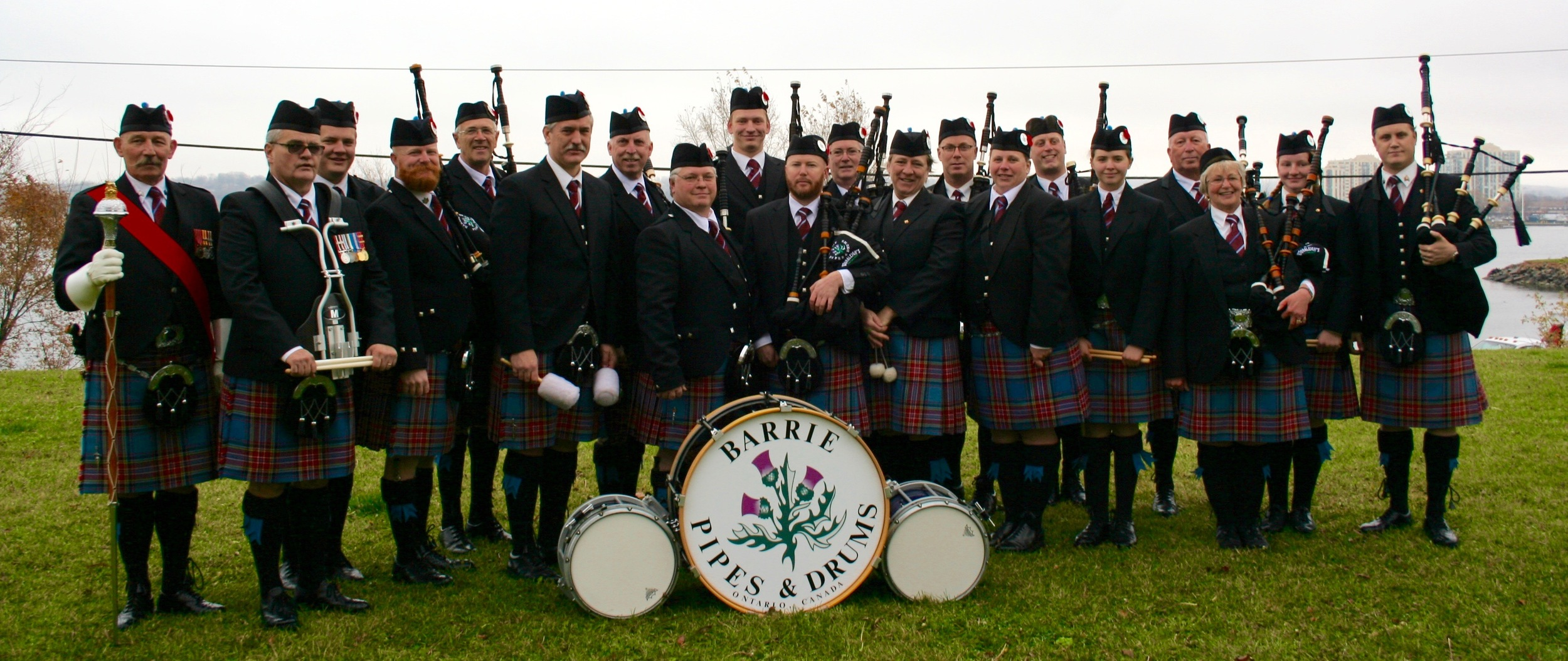 The Band after Barrie Remembrance Day Parade