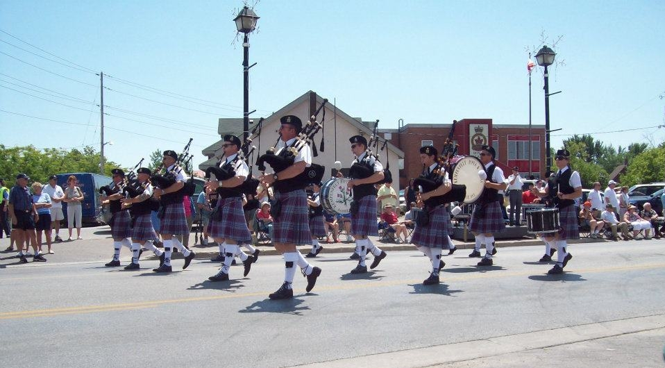 #tbt to the Orillia Scottish Festival in 2012, parading under our former name, Kempenfelt Pipes & Drums
