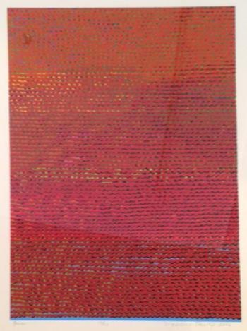 Madeleine Keesing, Fire, Silkscreen, 30 x 22 inches, Ed. 10 of 20