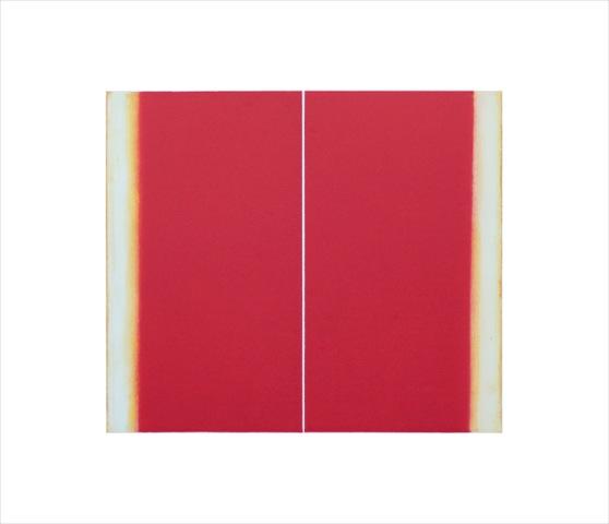 Betty Merken, Structure Cadmium Red , 2015, Oil monotype, 14 x 16 inches
