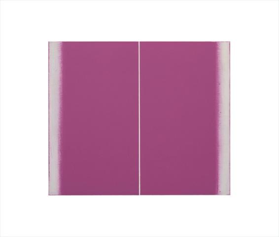 Betty Merken, Structure Pink , 2015, Oil monotype, 14 x 16 inches