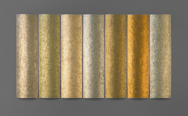 Autumn , 2011, glass, concrete and steel, 36 x 66 x 1.5 inches