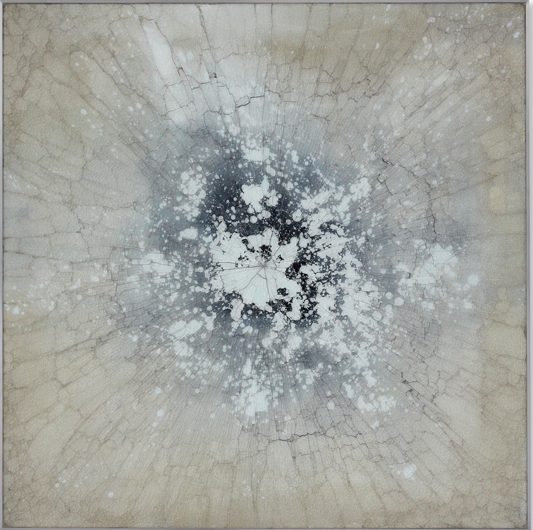 Kapnos 9-15 , 2015, reverse painted glass, 40 x 40 inches