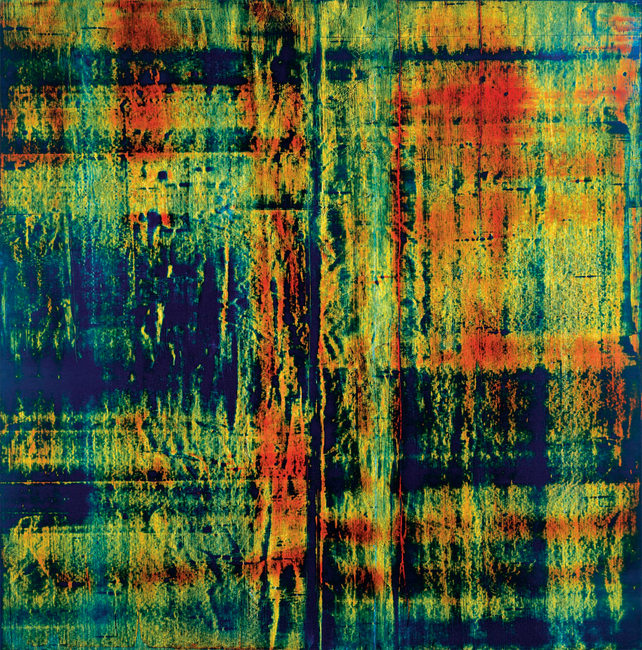 Donald Groscost,  Din , 2003, Oil on canvas, 72 x 72 inches