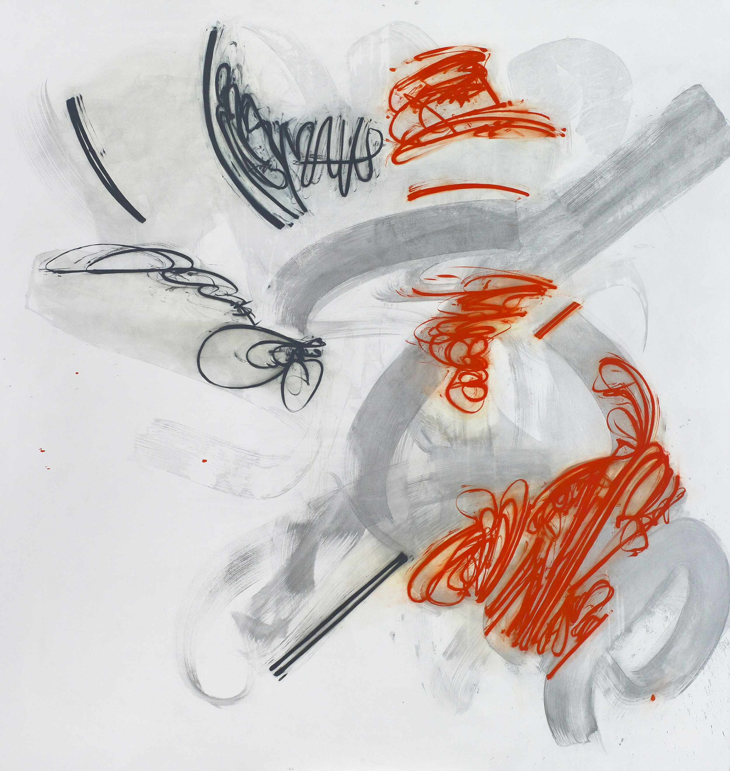Party Line , 2011, Oil and acrylic on canvas, 73 x 70 inches