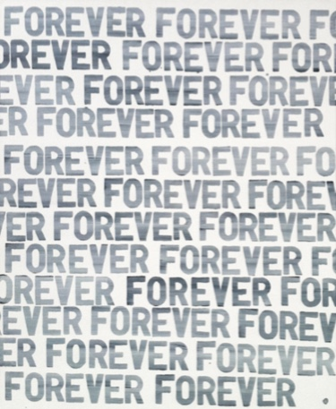John Clement,  Forever Forever Forever , 2012, Acrylic on canvas, 42 x 34 inches