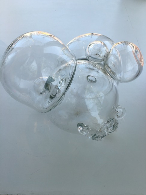 """Beth Dary, """"From the Equilibrium Series"""", 2008, Hand-blown glass, 11.5 x 15.5 x 15 inches"""
