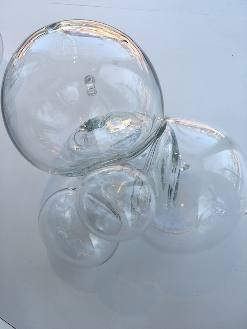 """Beth Dary, """"From the Equilibrium Series"""", 2008, Hand-blown glass, 11.5 x 17 x 12 inches"""