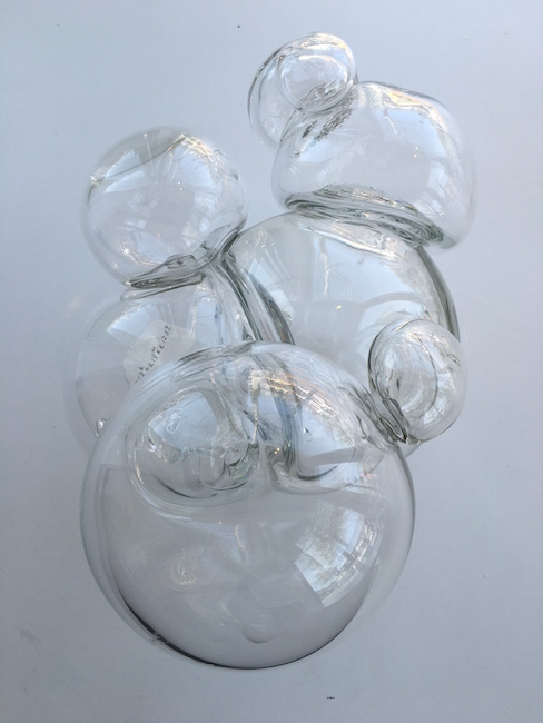 """Beth Dary, """"From the Equilibrium Series"""", 2008, Hand-blown glass, 12 x 18.5 x 12.5 inches"""