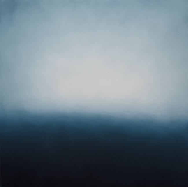 Alex Weinstein,  Alight ,2014, Oil on panel, 60 x 60 inches