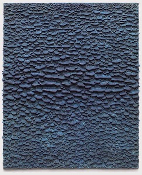 Blue Relief , 2006, Bronze (unique cast), 37 1/2 x 30 1/2 x 2 1/4 inches
