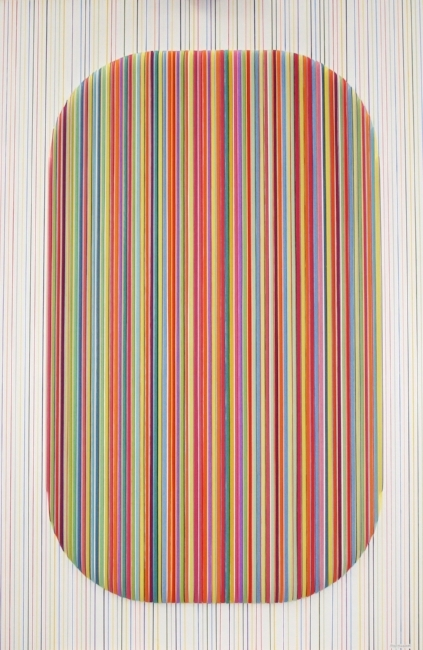 Striations , 2016, Mixed Media, framed, 48x32 inches,  SOLD