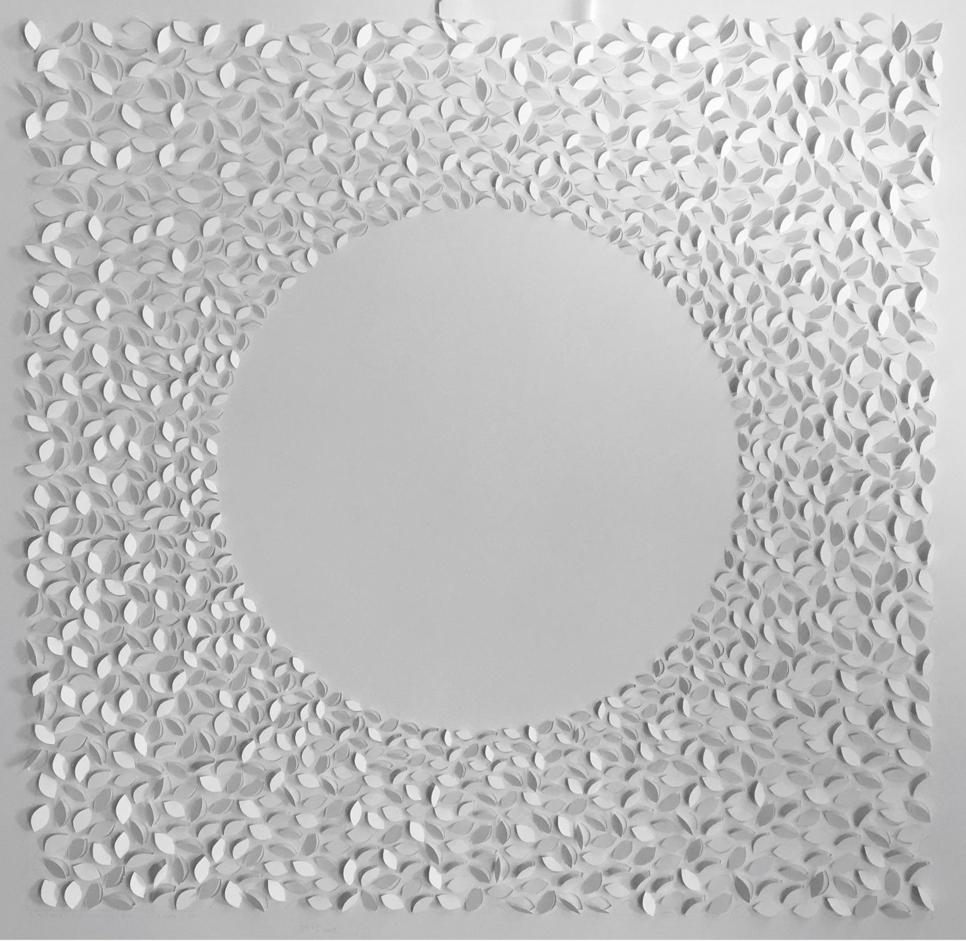 Jaq Belcher,  Solar Series II, 2016, Hand-cut paper, 3,975 cuts, 37 x 37 inches
