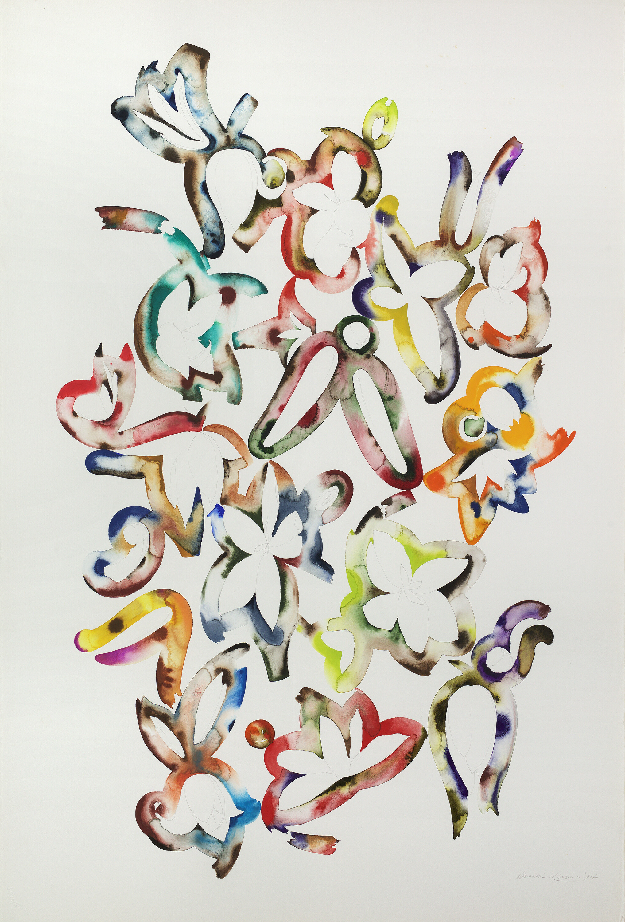 Martin Kline, 1994, Pencil, watercolor and gouache on paper, 60 x 40 1/4 inches