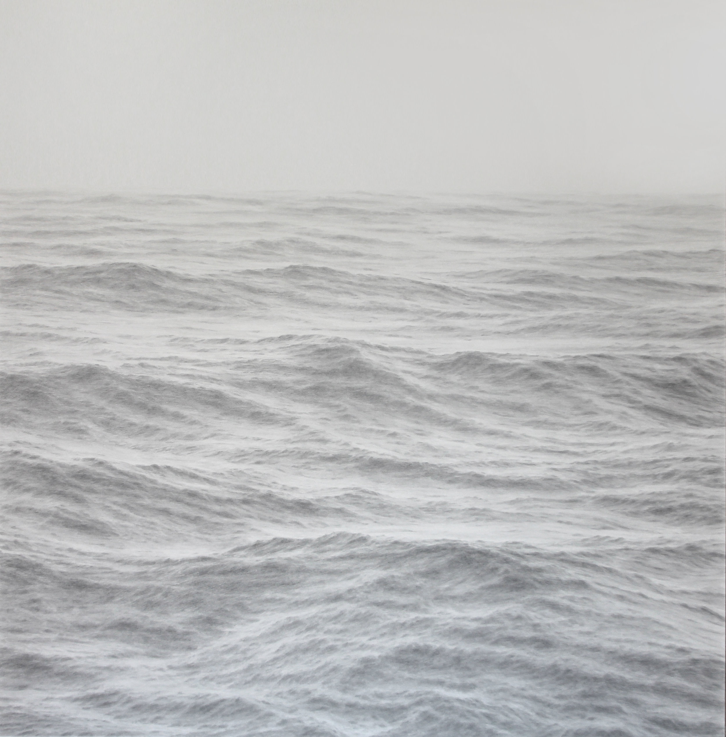Katherine Young,  Complexities, graphite on paper, 48 x 48 inches