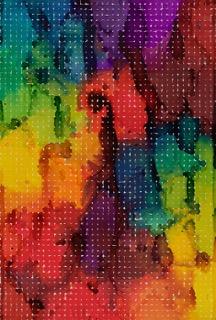 Martin Kline  , Spectrum for Ellsworth (Liquid Grid #98), 1998, Pencil, watercolor and gouache on paper,60 x 40 1/2 inches