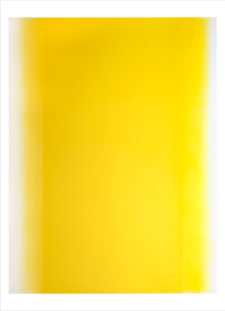 Betty Merken,  Illumination, Citron 07-16-13,  2016,Oil monotype on Rives BFK paper, 54 x 39.5 inches