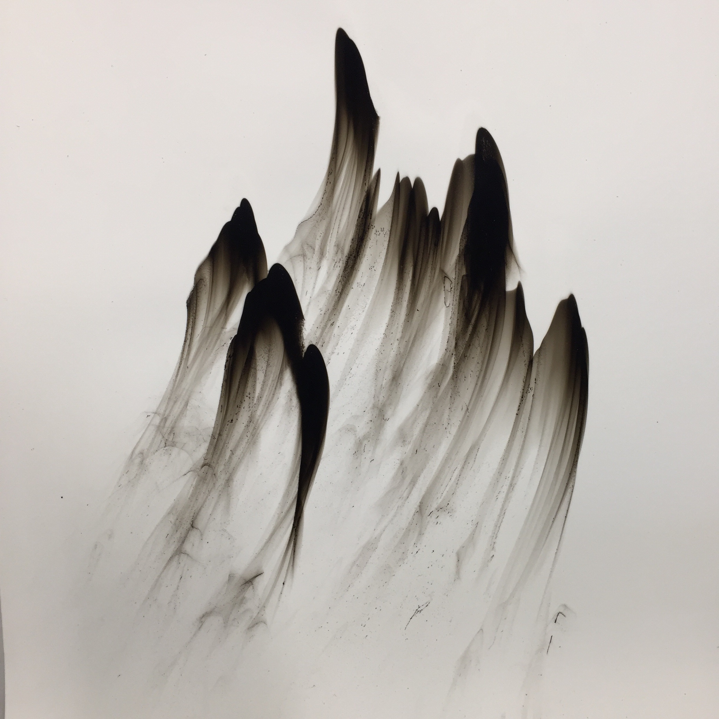 Dennis Lee Mitchell  , Landscape 69, 2016, Smoke on paper, 19 x 19 inches