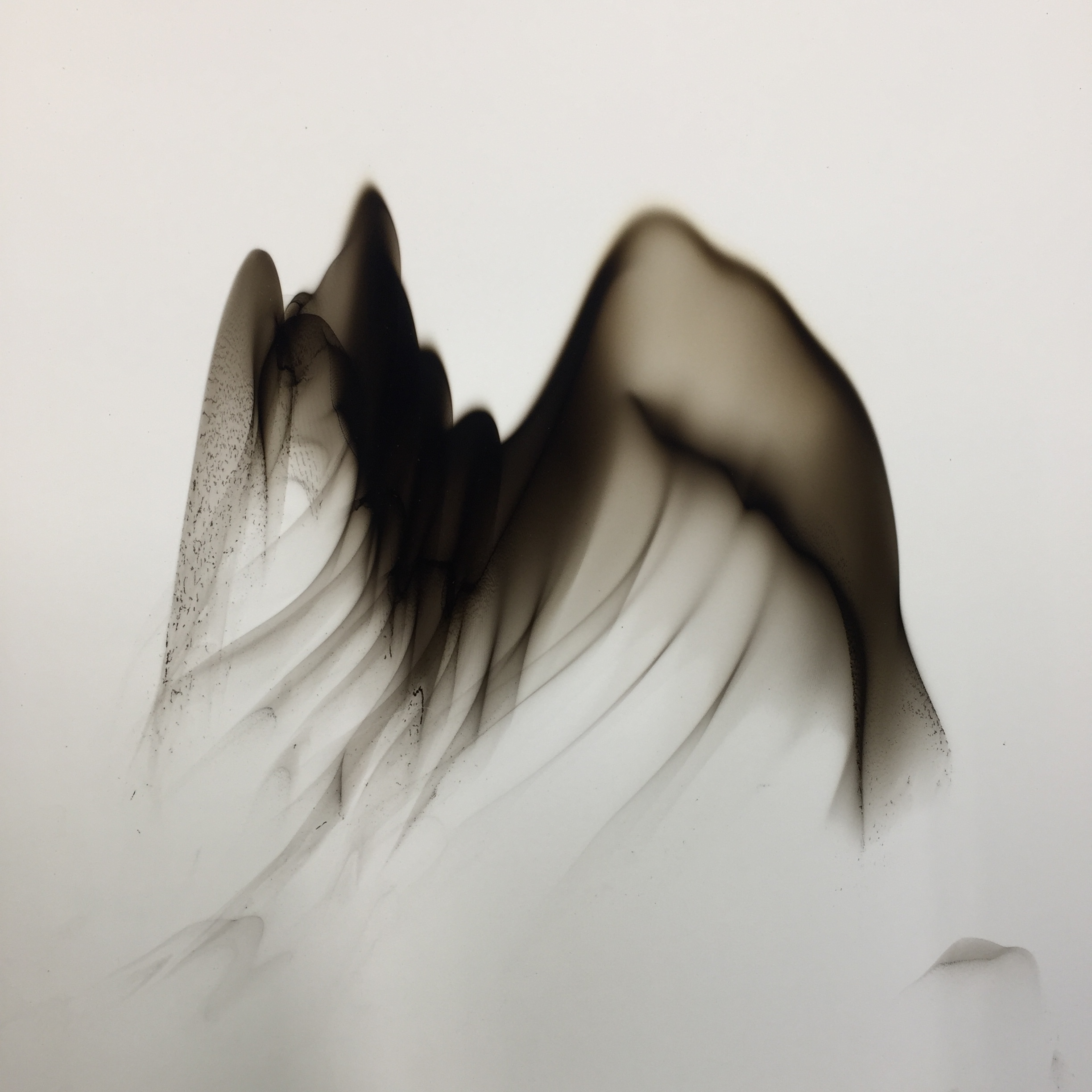 Dennis Lee Mitchell  , Landscape 68, 2016, Smoke on paper, 19 x 19 inches