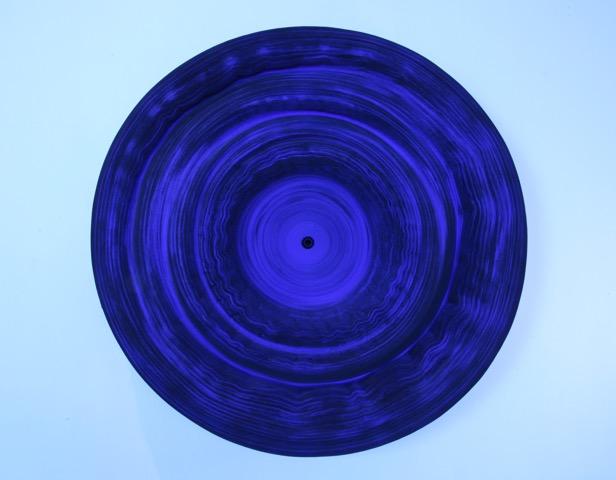 Jae Ko , JK493 Ultramarine Blue; rolled paper, colored ink and glue; 28 x 28 x 6 inches