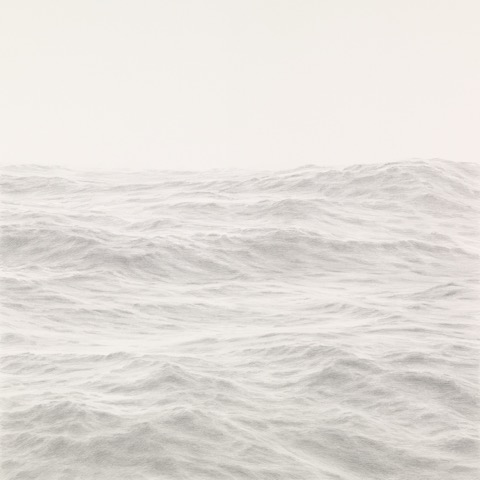 Katherine Young,  Diastole, graphite on paper, 17 x 17 inches