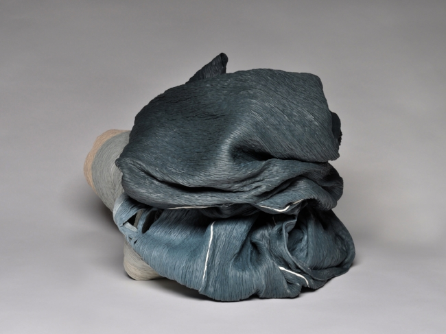 Igneous,  2017, Hand-coiled porcelain ceramic, 16 1/2 x 22 x 19 inches