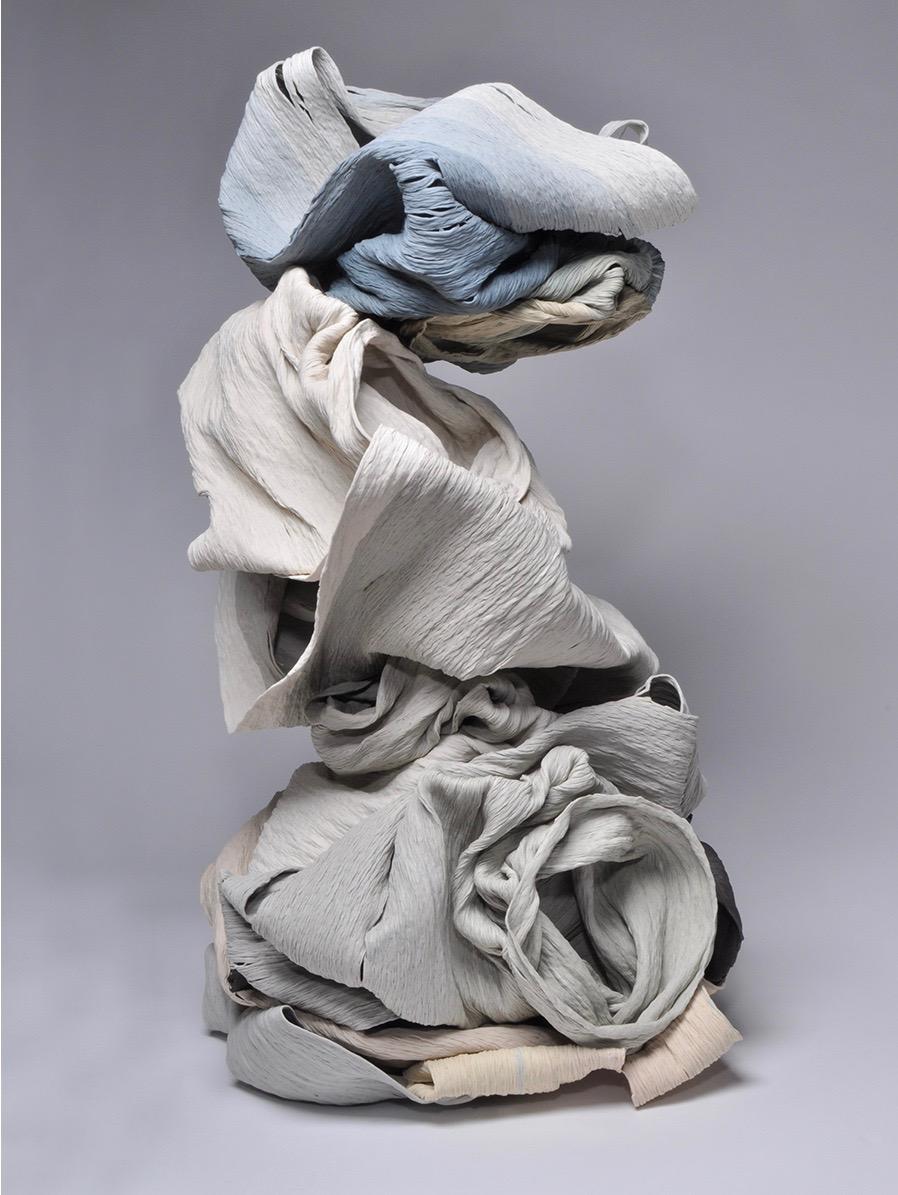 Cheryl Ann Thomas, Perch, 2015, hand-coiled porcelain ceramic, 38 x 20 x 20 inches