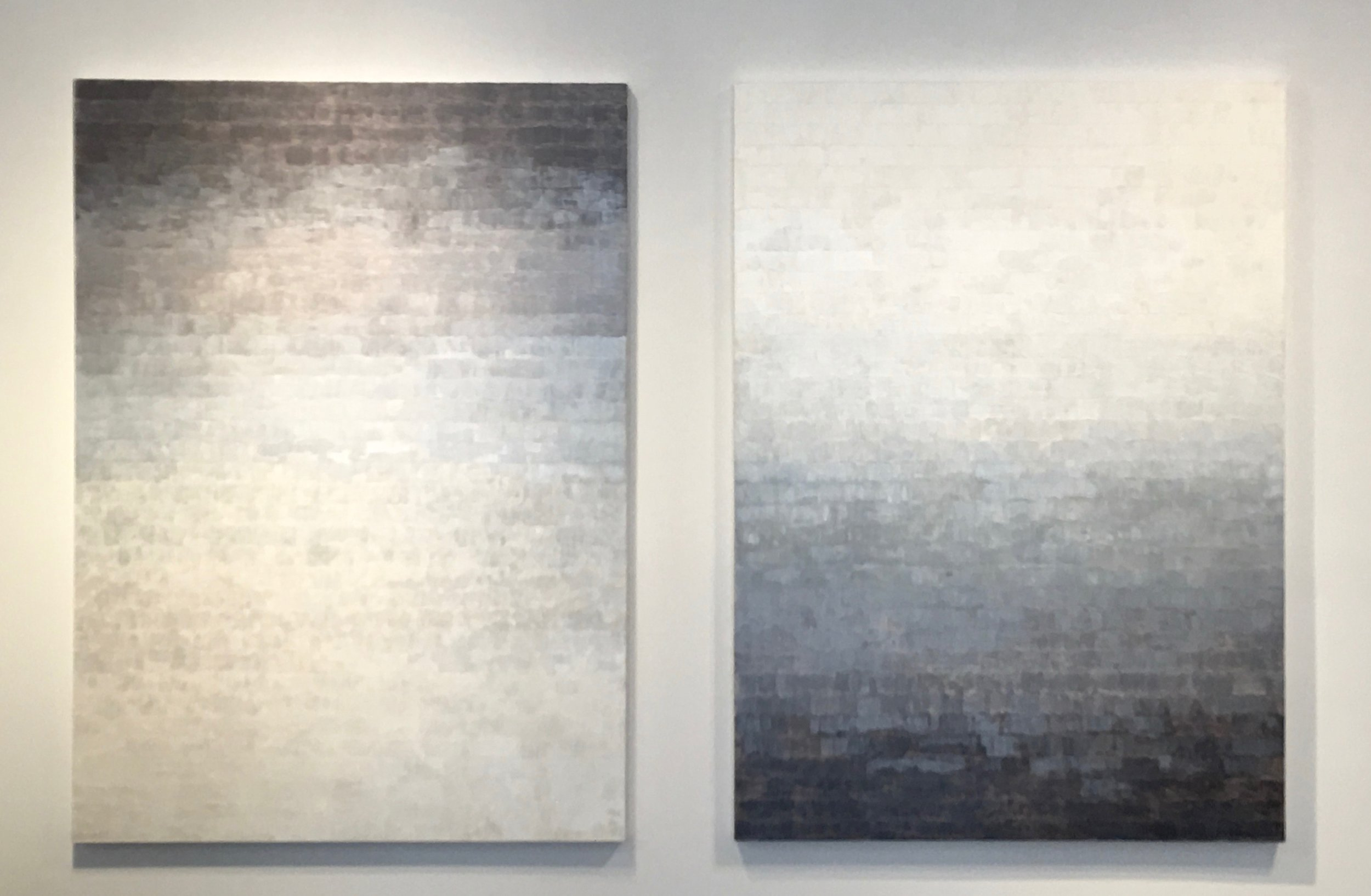 Pegan Brooke, S-239 S-240  (diptych), 2017, Oil on canvas, 72 x 52 inches each