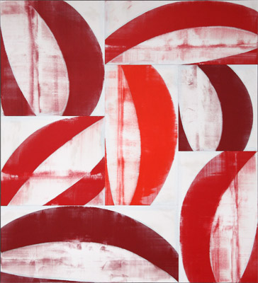 Big Red,  2007, acrylic on canvas, 88 x 80 inches, SOLD