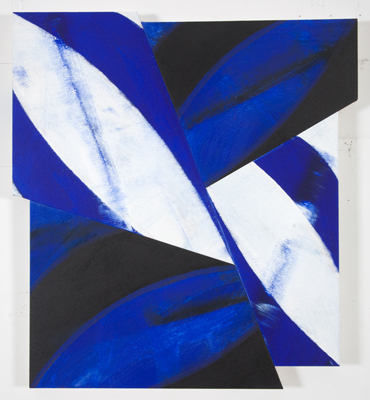 Byline, 2009, acrylic on canvas, 36 3/4 x 34 inches