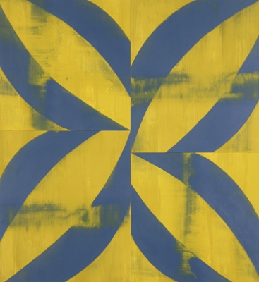 Haymaker, 2007, acrylic on canvas, 78 x 72 inches