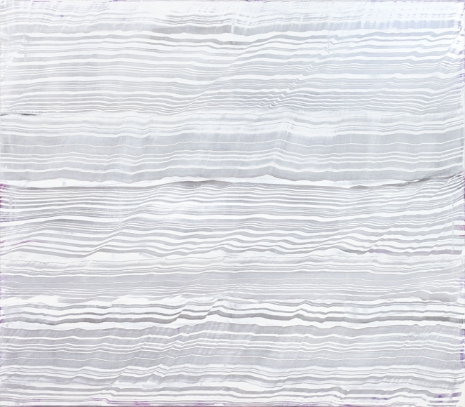 Ricardo Mazal,   White Over Violet 2,  2016, Oil on linen, 71 x 82 inches