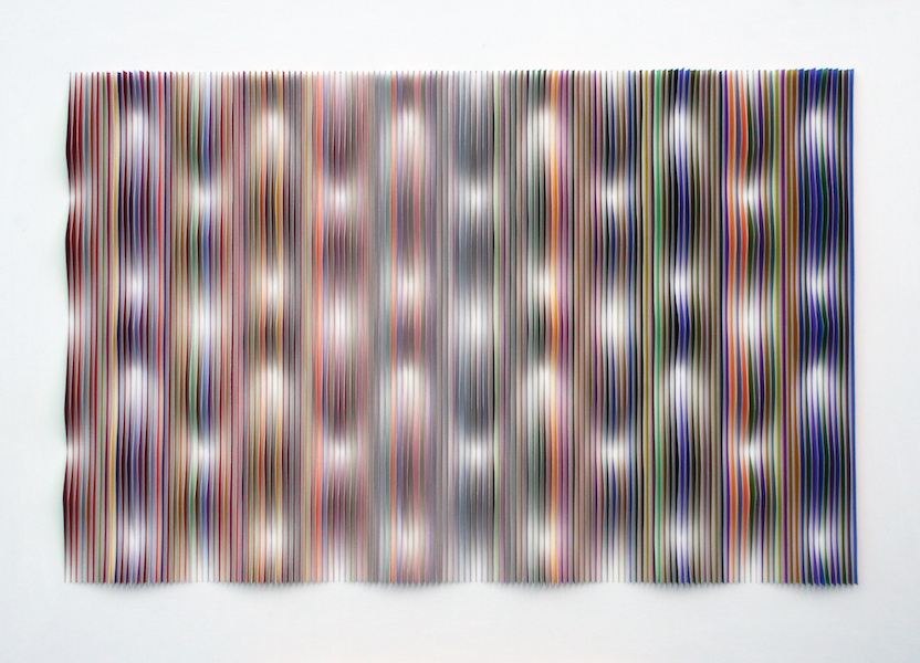 Peter Monaghan   , Linear Paper Cut , 2017, mixed media, 40 3/4 x 56 inches