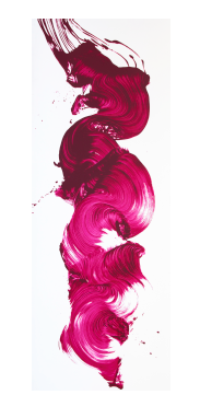 James Nares , Girl About Town,  Screenprint, 75 x 28 inches