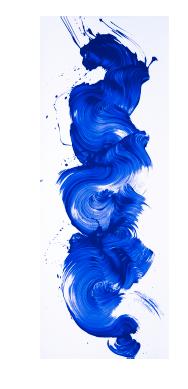 James Nares,  I'm Blue , 2017, Screenprint, 75 x 28 inches