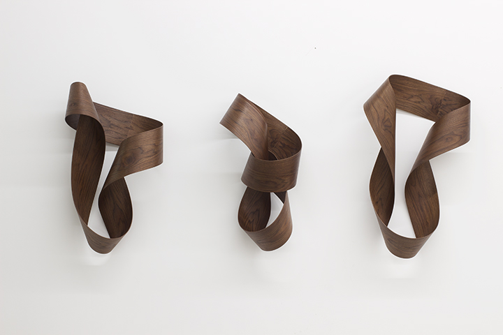 Untitled, 2018, walnut, variable dimensions