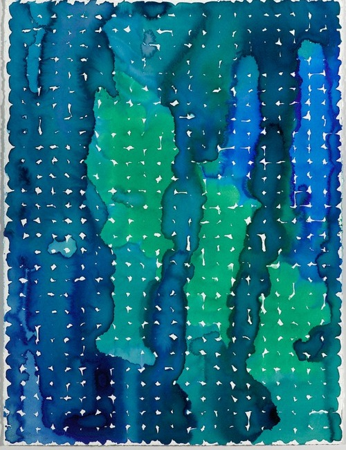 Martin Kline,  Liquid Grid #93 , 1998, Ink on paper, 30 x 22 1/4 inches