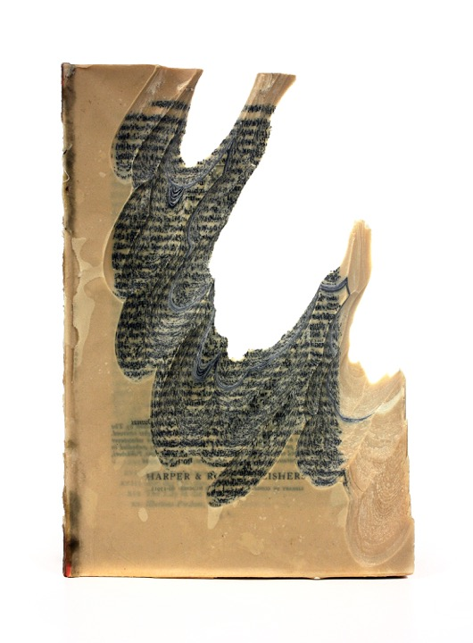 Jessica Drenk  , Carving 38 , Book and wax, 9 inches in height