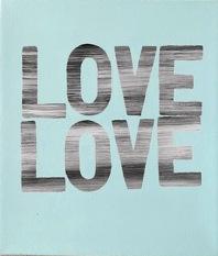 Matthew Heller  , Love Love (Blue), 2018, Acrylic on canvas, 11 x 9 1/2 inches