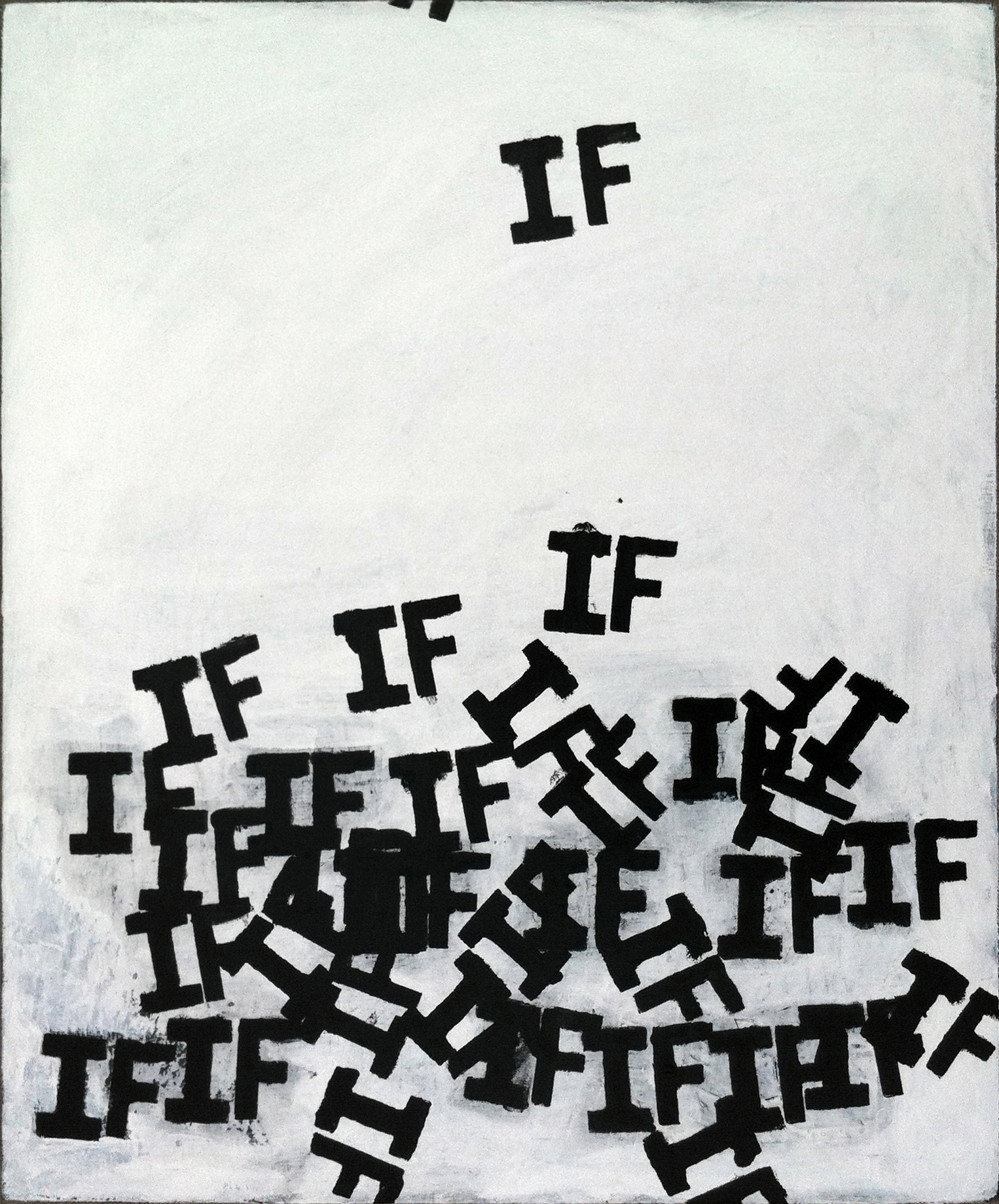 Matthew Heller  , Untitled (Falling Ifs),  2011, Acrylic on canvas, 24 x 20 inches