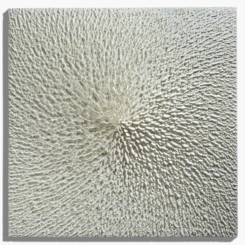 Martin Kline  , Little Leda, 2017, Encaustic on panel, 20 x 20 x 2 inches